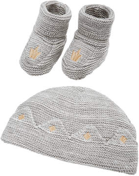 First Impressions 2-Pc. Cotton Prince Crown Hat & Booties Set, Baby Boys & Girls (0-24 months), Created for Macy's
