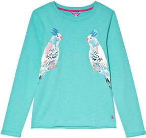 Joules Green Sequin Parakeet Sweatshirt