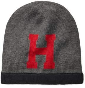 Tommy Hilfiger Mens Logo Beanie Hat Grey One Size