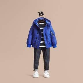 Burberry Hooded Lightweight Bomber Jacket