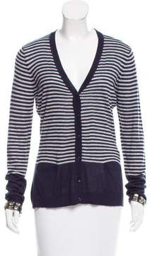 Armani Jeans Striped V-Neck Cardigan