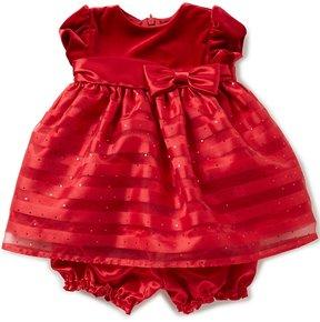 Jayne Copeland Baby Girls 3-24 Months Velvet-Bodice Shadow-Stripe Dress