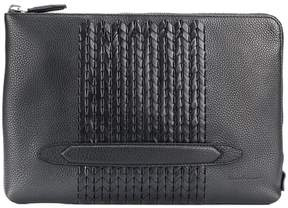 Salvatore Ferragamo woven panel clutch bag