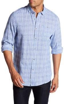 Report Collection Long Sleeve Modern Fit Linen Blend Shirt