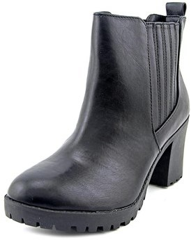 Material Girl Nina Women Round Toe Synthetic Black Ankle Boot.