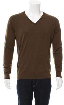 Balenciaga Virgin Wool V-Neck Sweater w/ Tags