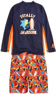 Trunks Laguna 2-Pc. Jawsome Rash Guard & Swim Set, Little Boys