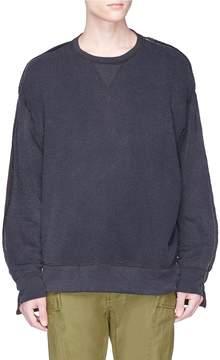 R 13 Tonal patchwork sweatshirt