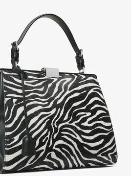 Michael Kors Simone Zebra Calf Hair Top-Handle Bag