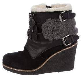 Australia Luxe Collective Shearling Wedge Ankle Boots