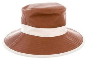 Hermes Leather Bucket Hat