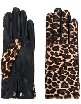 Agnelle Chloe leopard print gloves
