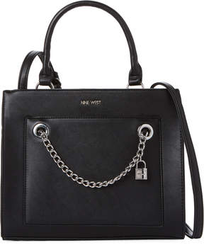 Nine West Black Nenet Satchel