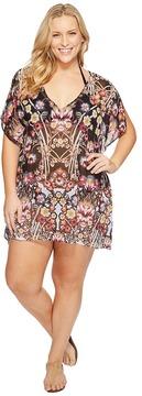 Becca by Rebecca Virtue Plus Size Havana Tunic Cover-Up