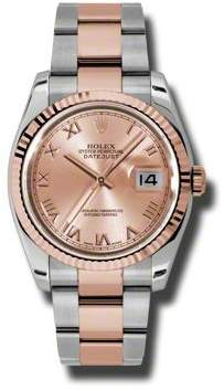 Rolex Oyster Perpetual Datejust 36 Champagne Dial Stainless Steel and 18K Everose Gold Bracelet Automatic Men's Watch