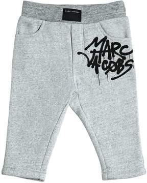 Little Marc Jacobs Logo Printed Cotton Sweatpants