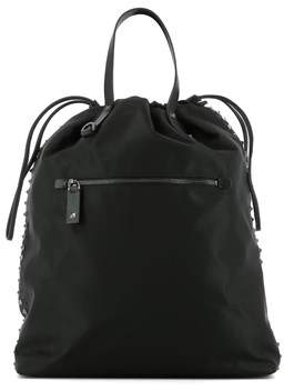 Valentino Men's Black Polyester Backpack.