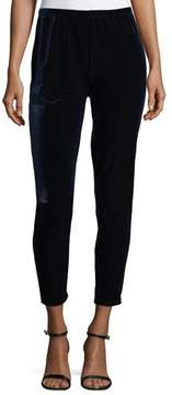 Joan Vass Velour Ankle Leggings