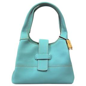 Loro Piana Turquoise Leather Handbag