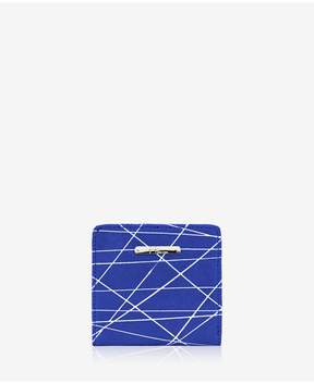 GiGi New York | Mini Foldover Wallet In Geometric Italian Calfskin Leather | Geometric italian calfskin leather