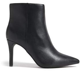Forever 21 Faux Leather Stiletto Ankle Boots (Wide)