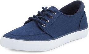 Andrew Marc Pembroke Twill Low-Top Sneaker, Navy/White