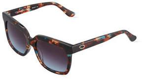 Oscar de la Renta O By Duo-Tone Square Plastic Sunglasses