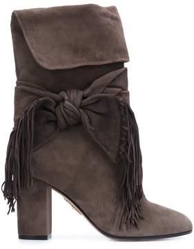Aquazzura 'Fringe Tie' boots