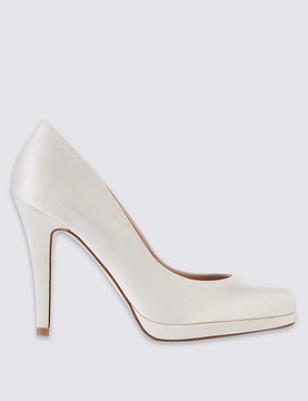 Marks and Spencer Stiletto Satin Court Shoes