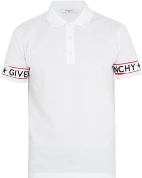 GIVENCHY Cuban-fit logo-print cotton-piqué polo shirt