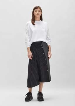 Aalto Cupro Wool Skirt Bi Material Stripes Size: FR 34