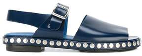 Kenzo Men's Blue Leather Sandals.