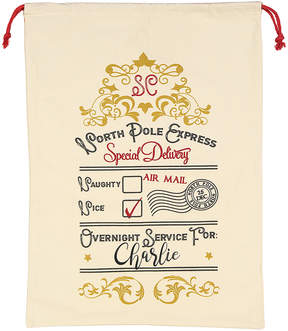 Express Gold 'North Pole Express' Personalized Santa Sack