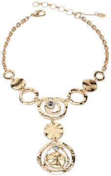 Amrita Singh Goldtone Hammered Hannah Pendant Necklace