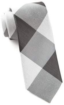The Tie Bar Bison Plaid Oversized Silk Blend Tie