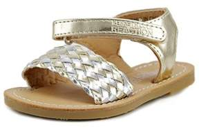 Kenneth Cole Reaction Groovy Woven Toddler Open Toe Synthetic Gold Sandals.