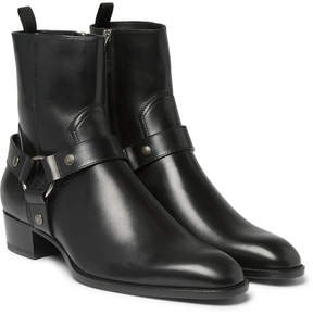 Saint Laurent Leather Harness Boots