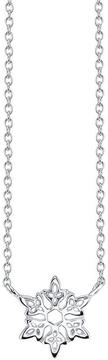 Disney Sterling Silver Frozen Snowflake Necklace with 18-inch Cable Chain