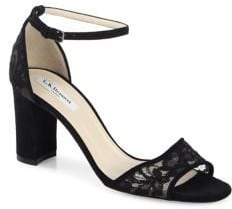 LK Bennett Helena Suede Ankle Strap Sandals
