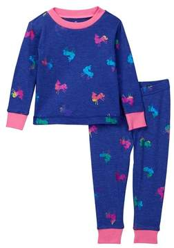 Petit Lem Pajama Top & Bottom 2-Piece Set (Toddler & Little Girls)