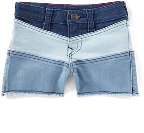 True Religion Big Girls 7-16 Colorblock Denim Shorts