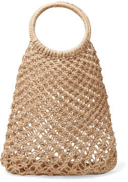Elizabeth and James – Alfonso Macramé Tote – Sand