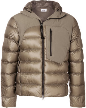 C.P. Company panelled padded jacket