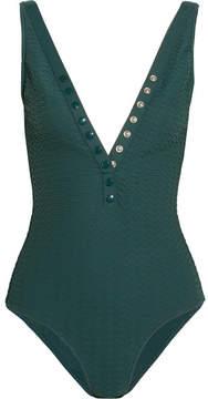 Eres Tribune Matelassé Swimsuit - Emerald