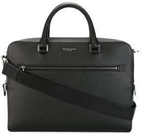 Michael Kors Men's Black Leather Briefcase.