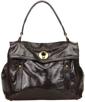 Saint Laurent Muse patent leather handbag - PURPLE - STYLE