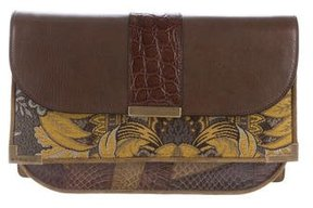 Etro Leather Flap Clutch