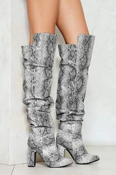 Nasty Gal Snake Eyes Slouchy Knee-High Boot