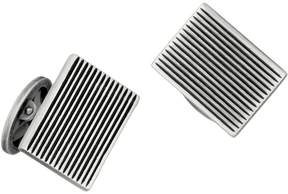 Jan Leslie Men's Rectangular Fine Line Cufflinks