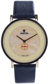 Croton N/A Mens Silver Tone Bracelet Watch-Ca301299bkyl